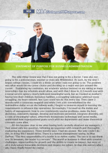 statement of purpose for business administration