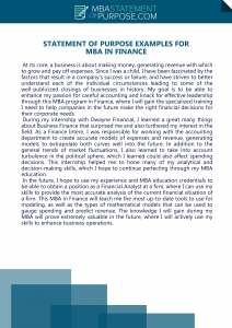 statement of purpose examples for mba in finance