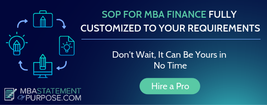 statement of purpose mba finance