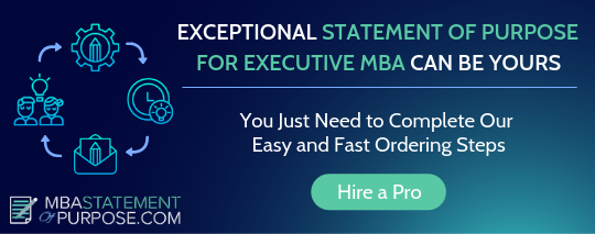 statement of purpose for executive mba