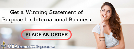 sop for mba in international business