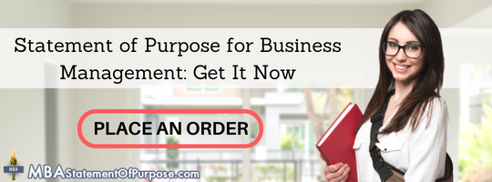 statement of purpose for business management
