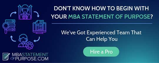 mba statement of purpose writing service