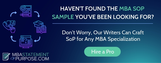 sample mba statement of purpose