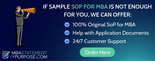 sample sop for mba