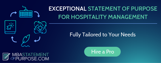 statement of purpose for hospitality management